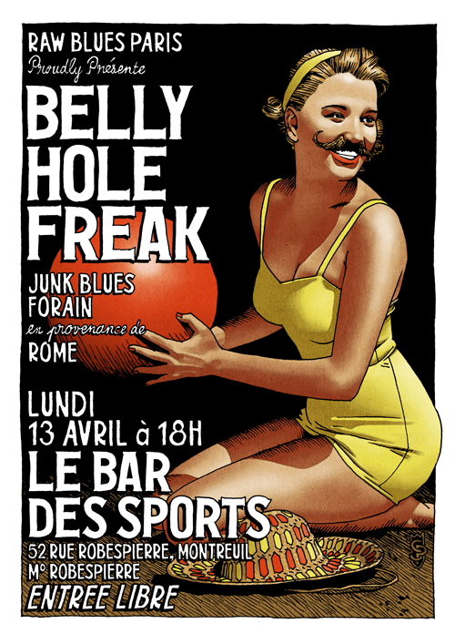 Flyer BellyHoleFreak BDS 500